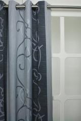 Verduisterend polyester grijs strepen