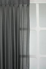 Vitrage polyester grijs